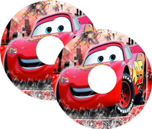 CARS McQUEEN Wheelchair Spoke Guard Sticker Skins